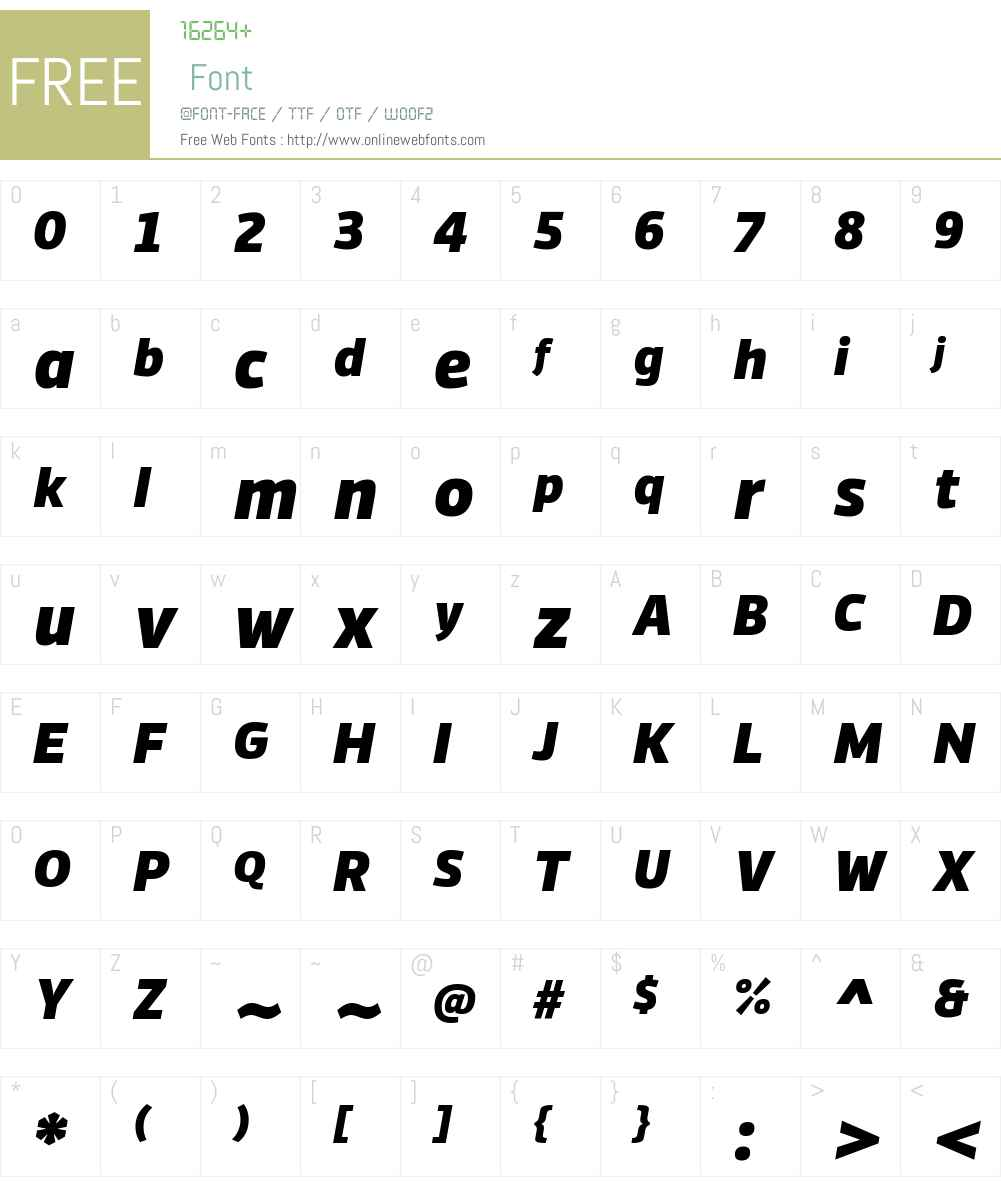 Vinkel Md Font Screenshots