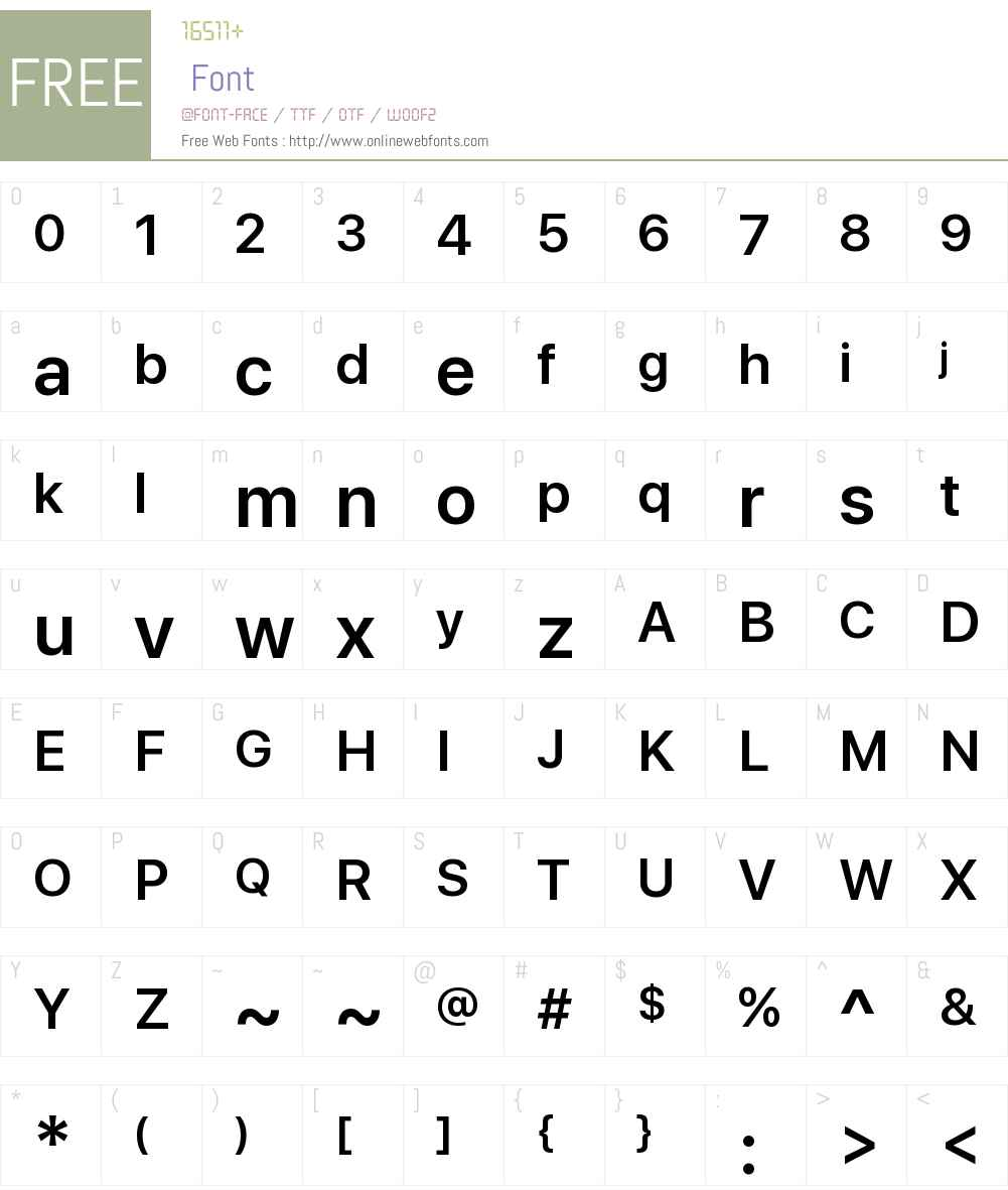 SF Display Font Screenshots