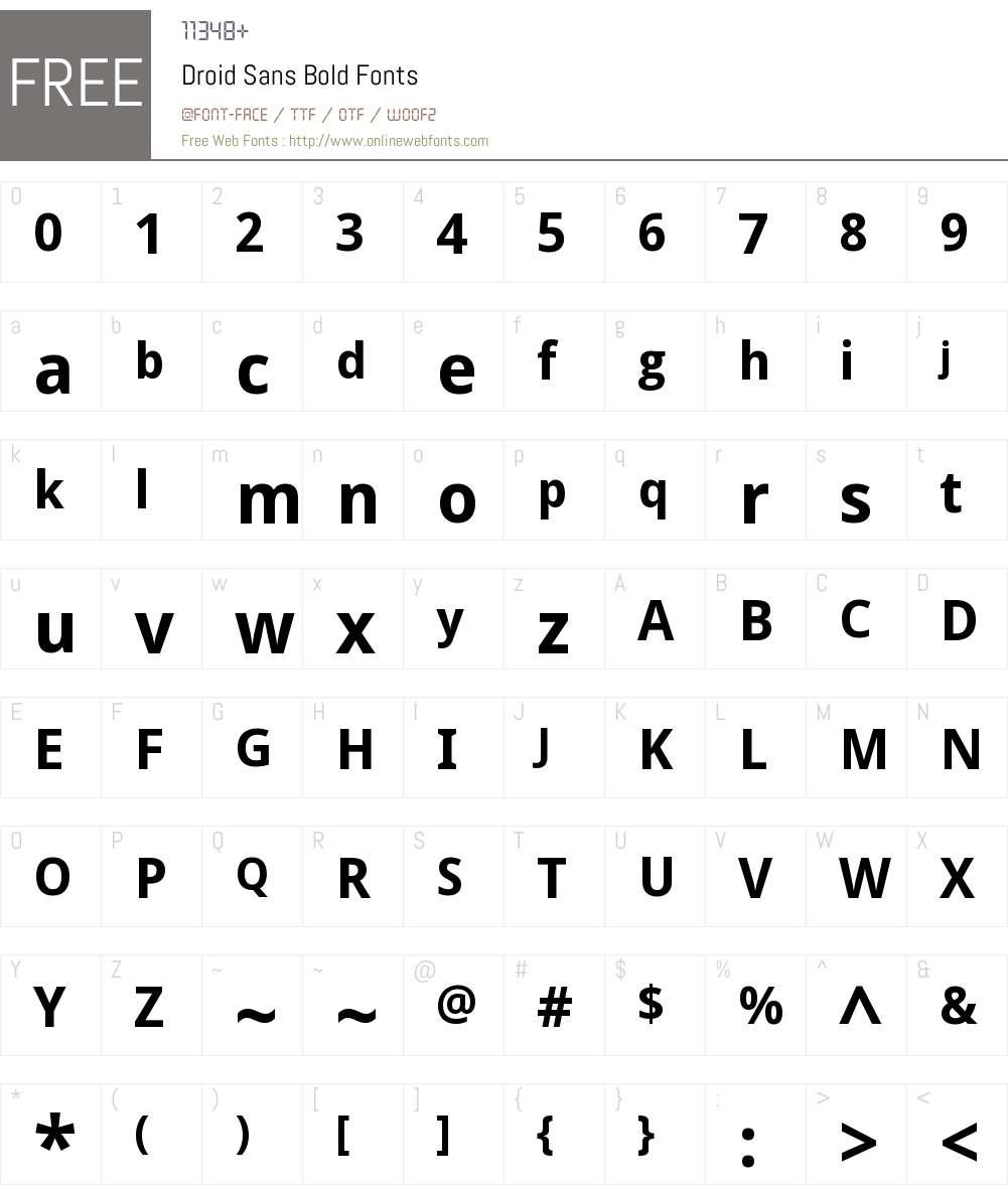 Droid Sans Font Screenshots