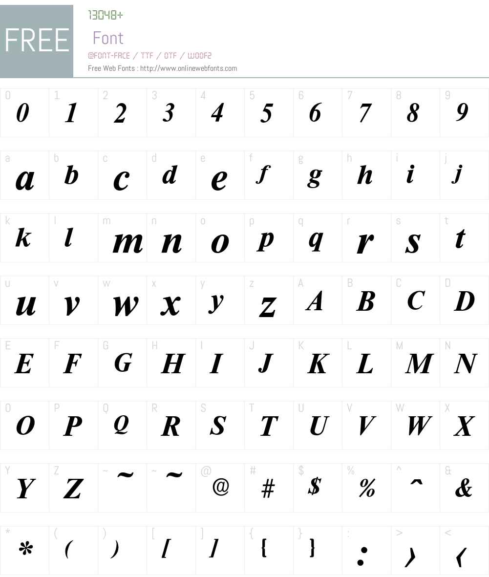Riccione-DemiBoldIta Font Screenshots