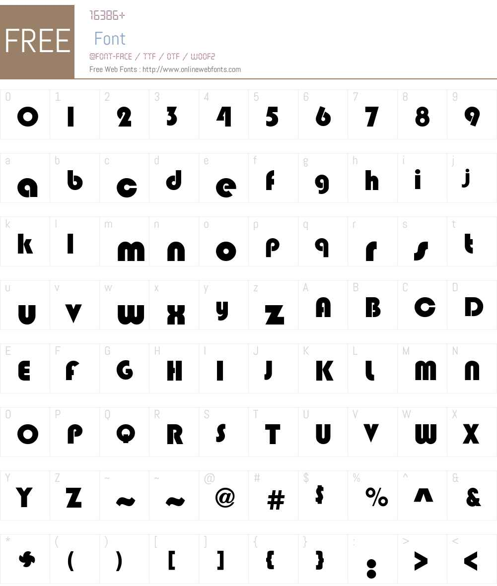 Bixlee-Heavy Font Screenshots