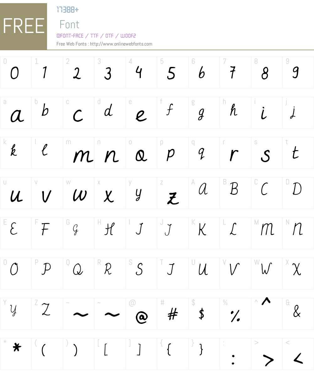 DJB Miss Jayne Aire Font Screenshots
