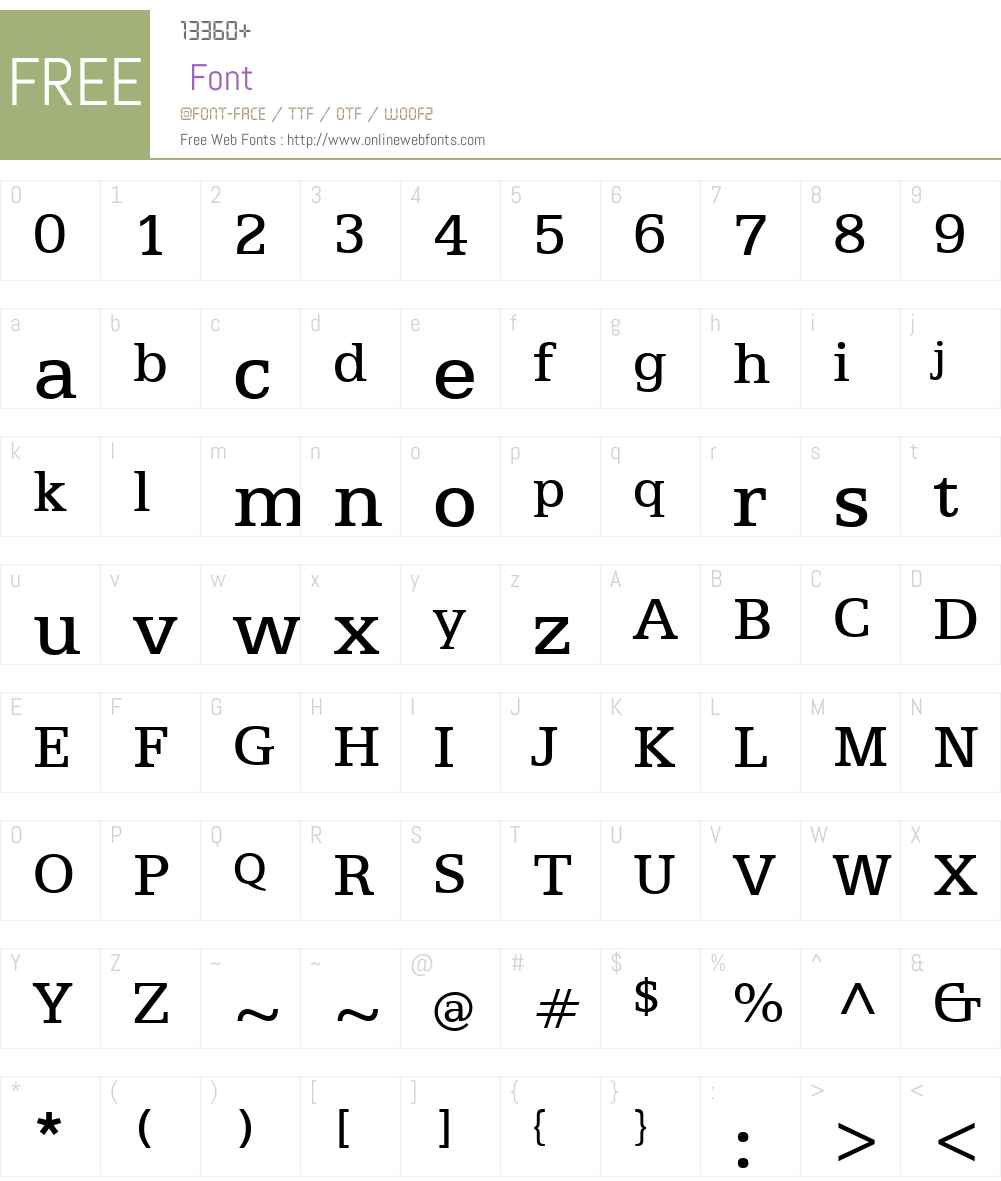 Egyptian505W01-Regular Font Screenshots