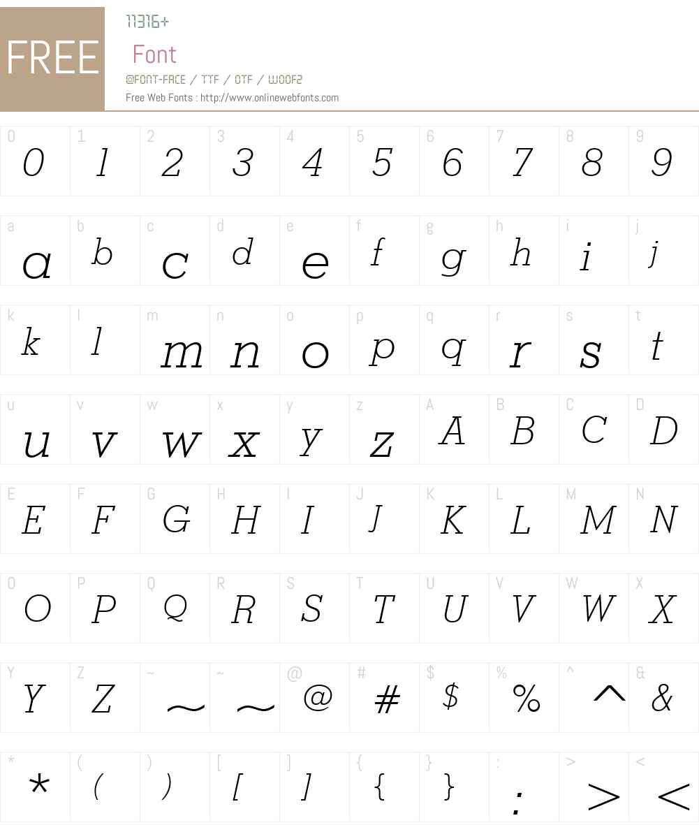 StymieBTW01-LightItalic Font Screenshots