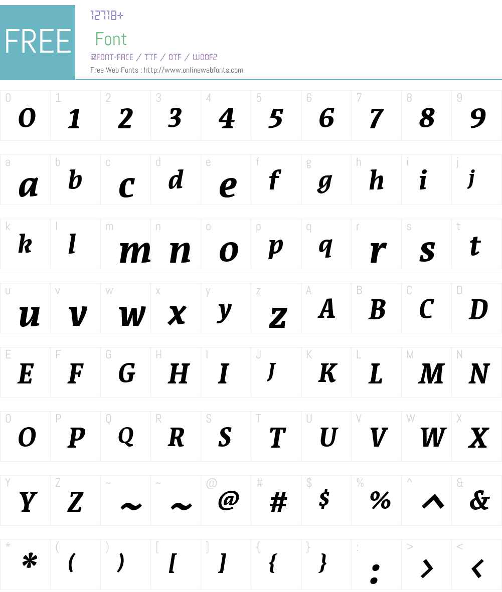 Acuta Font Screenshots