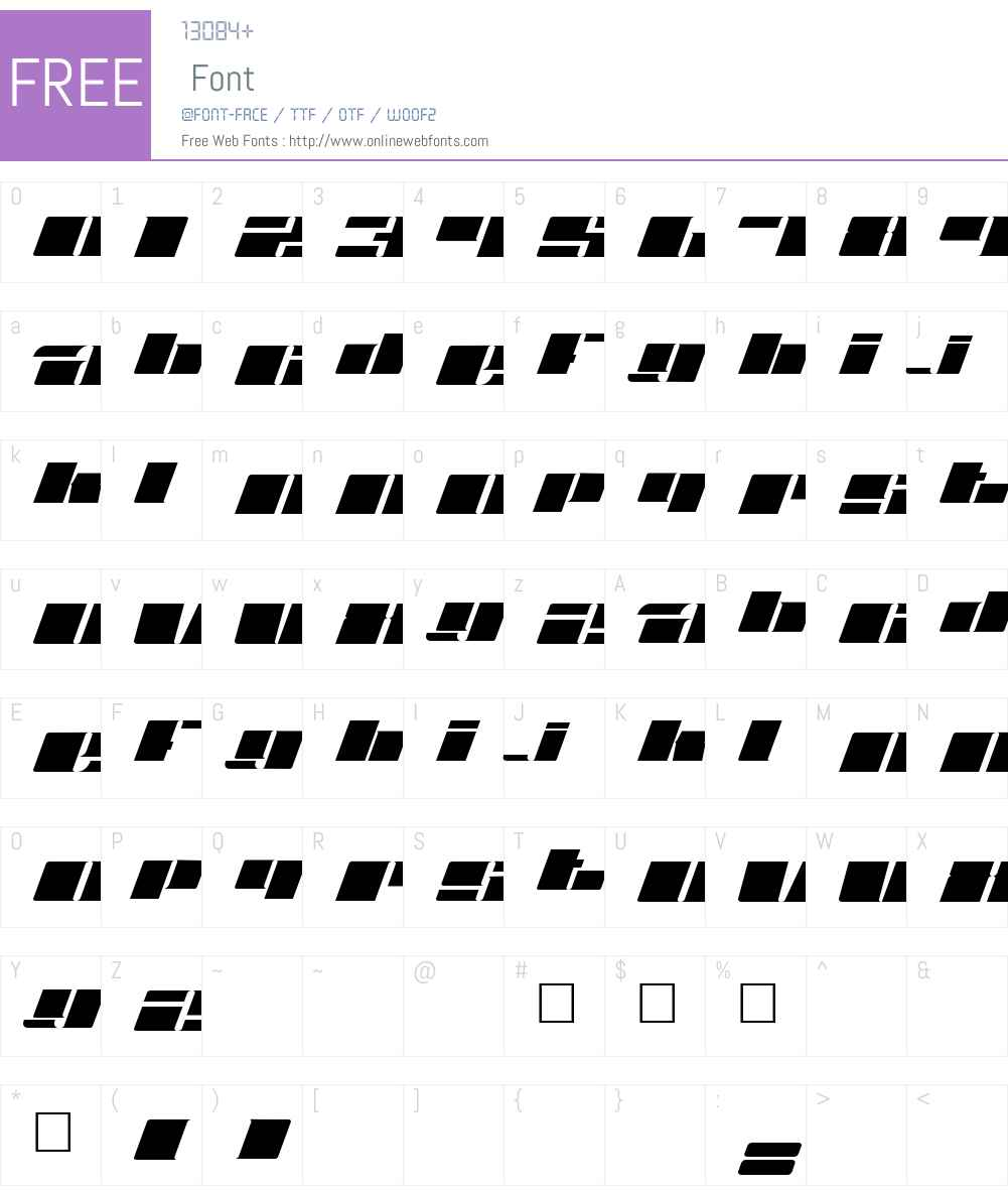 Fatt Font Screenshots