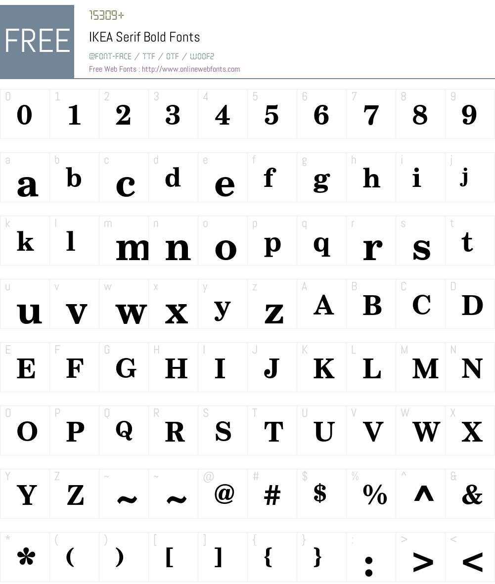 IKEA Serif Font Screenshots
