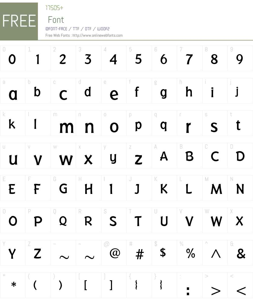 BadgerMedium Font Screenshots