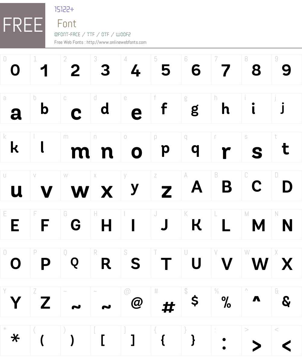 AndesRoundedW01-Bold Font Screenshots