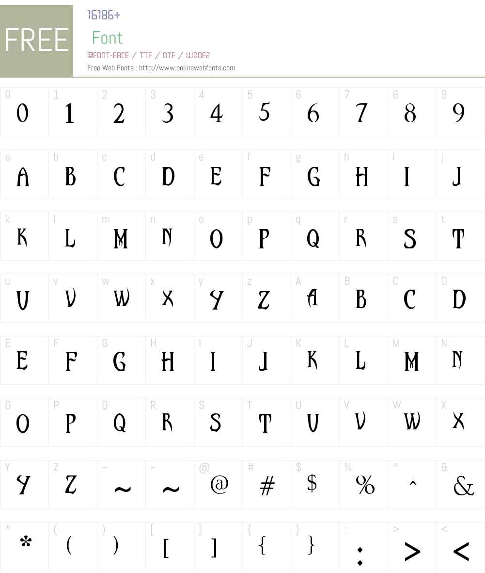 Malefic Font Font Screenshots