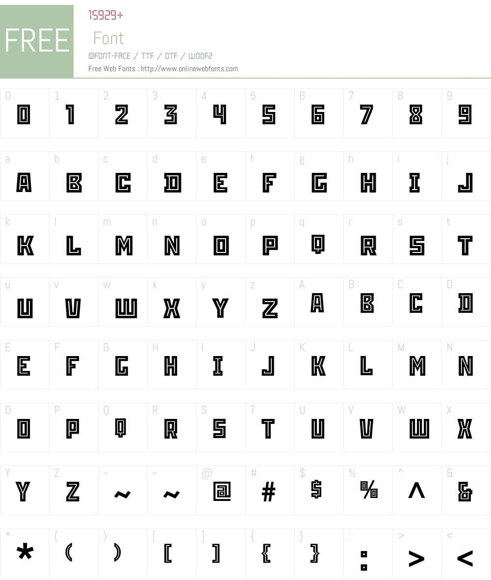 Stenberg Inline ITC Std Font Screenshots