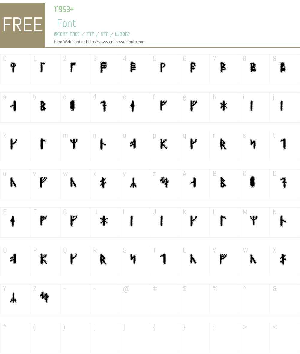 Yggdrasil Runic Font Screenshots