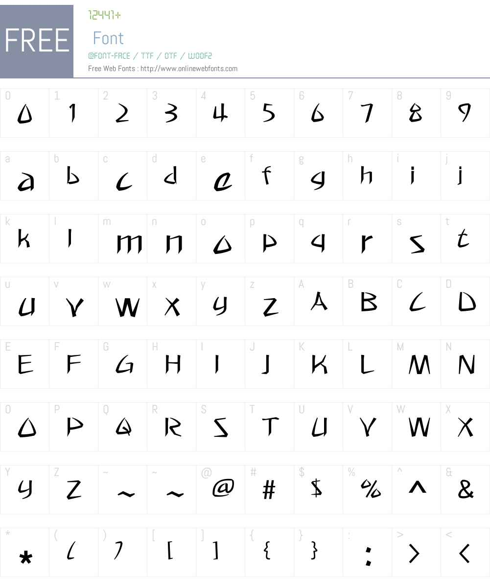 HYmprL Font Screenshots