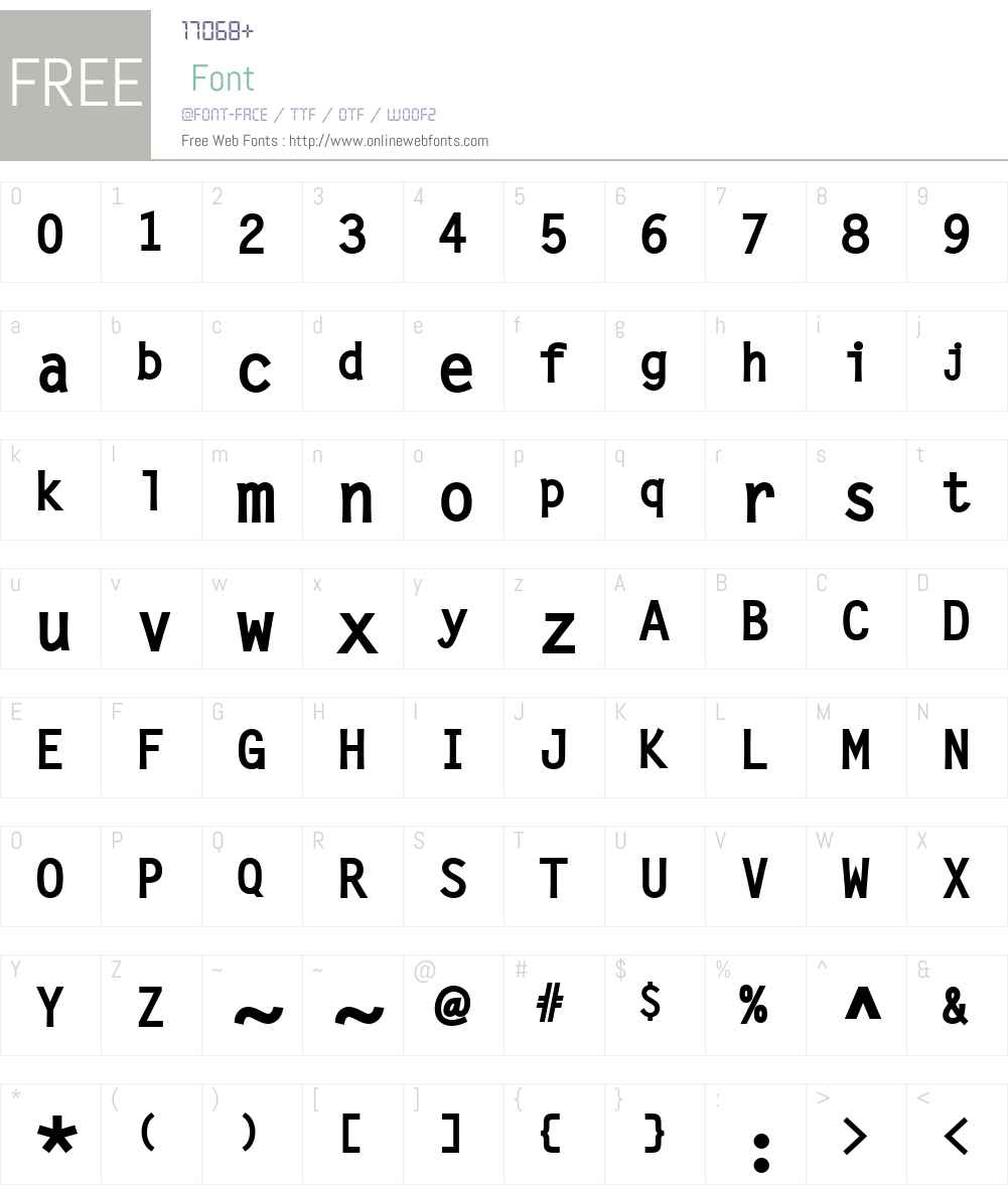 LetterGotLBol Font Screenshots