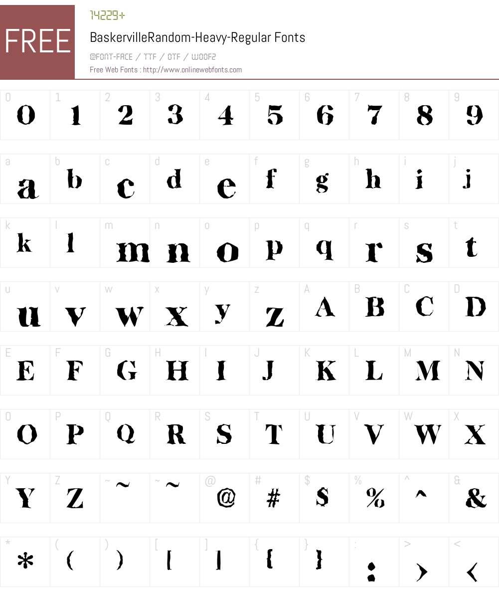 BaskervilleRandom-Heavy Font Screenshots