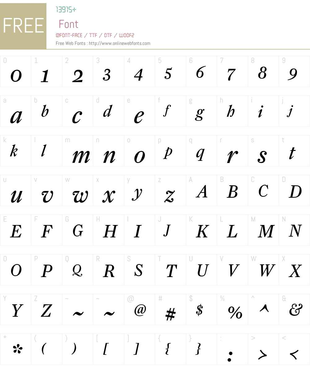 FarnhamText-RegularItal Font Screenshots