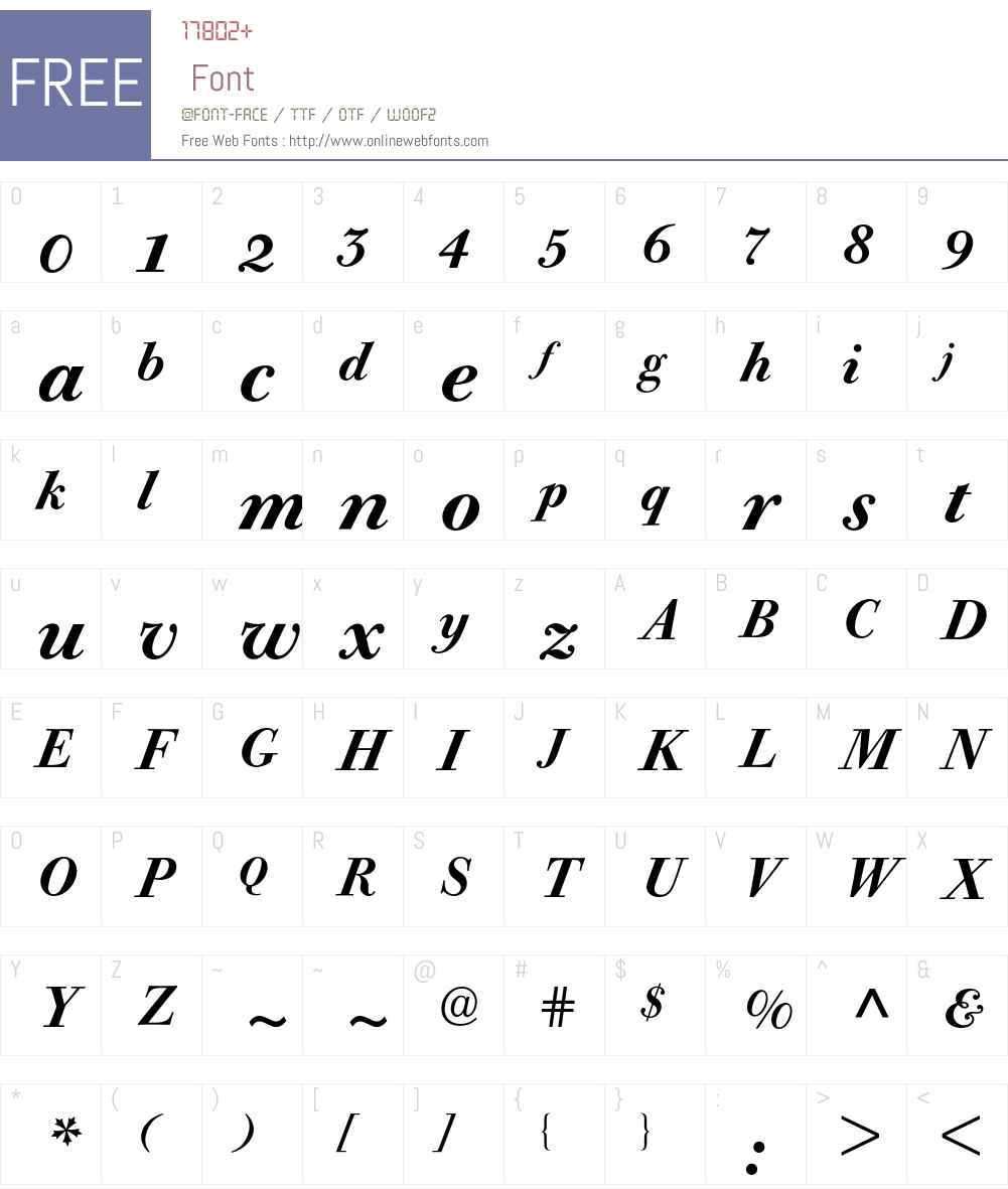 Bodoni Old Face Expert BQ Font Screenshots