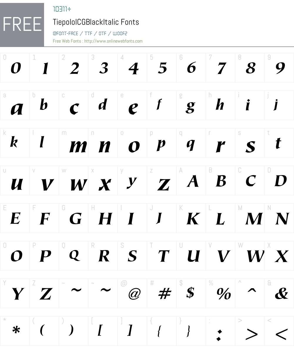 Tiepolo Font Screenshots