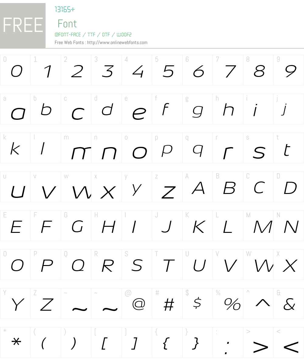 AeonisLTW01-LightExtdIt Font Screenshots