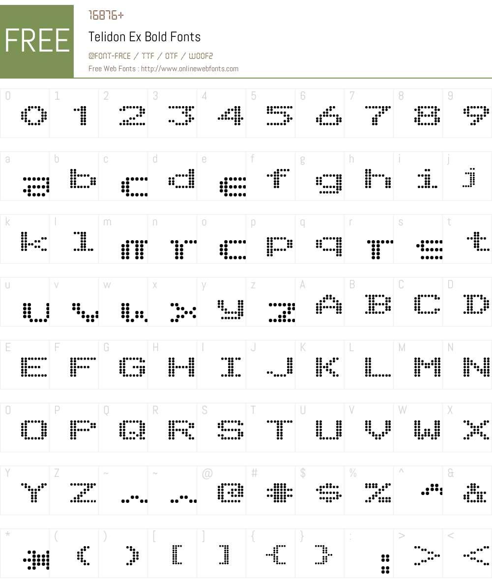 Telidon Ex Font Screenshots