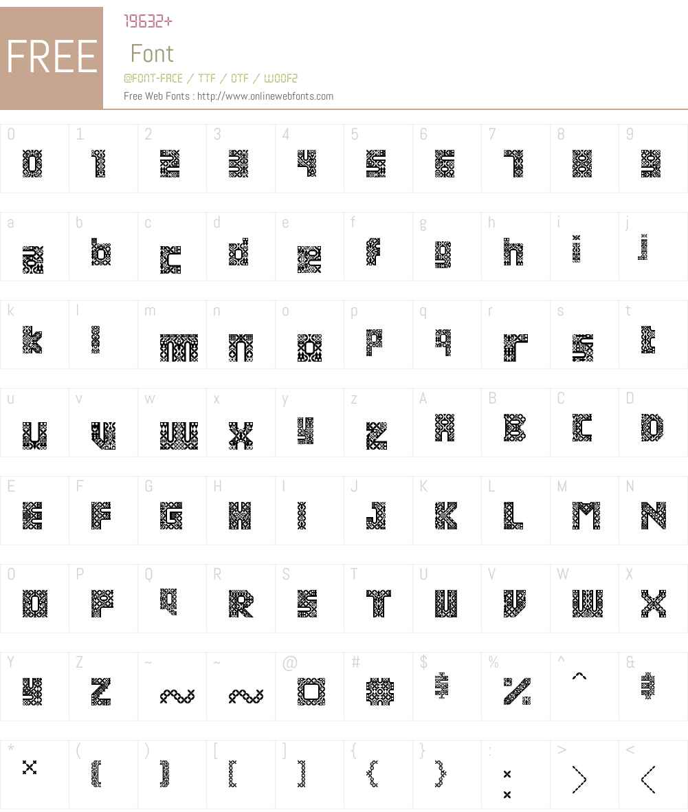 Antique Paleoindonesia Font Screenshots