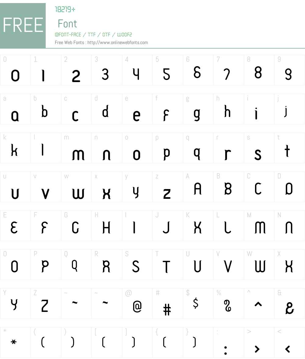 TableManners Font Screenshots
