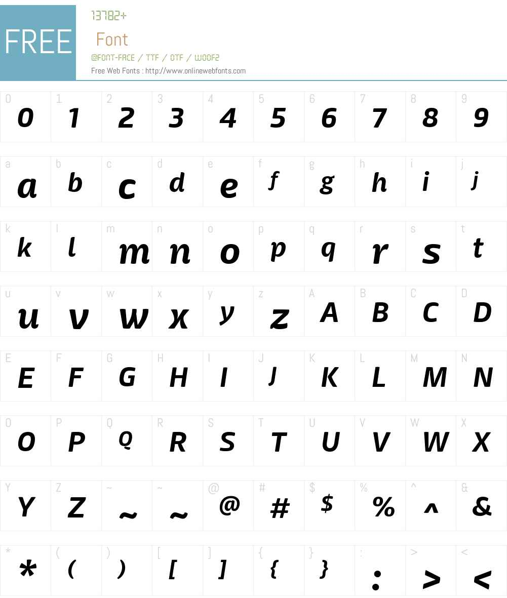 MangericaW00-BoldItalic Font Screenshots