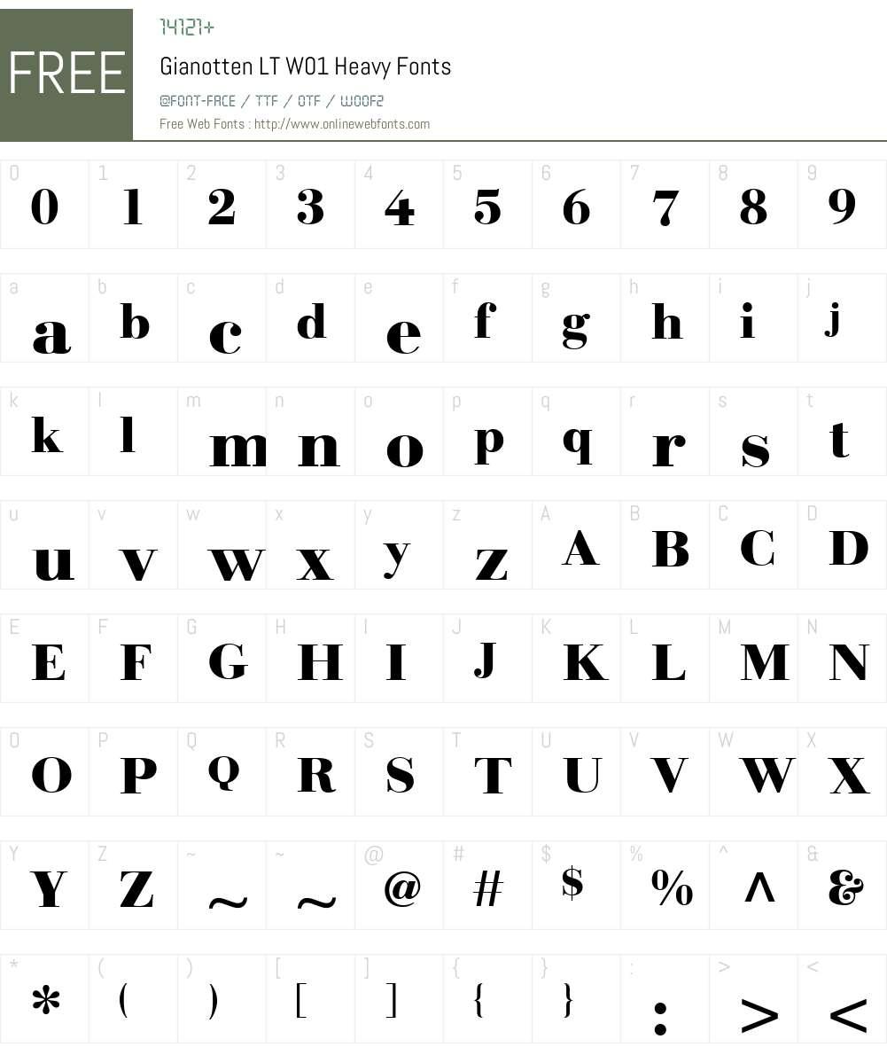 GianottenLTW01-Heavy Font Screenshots