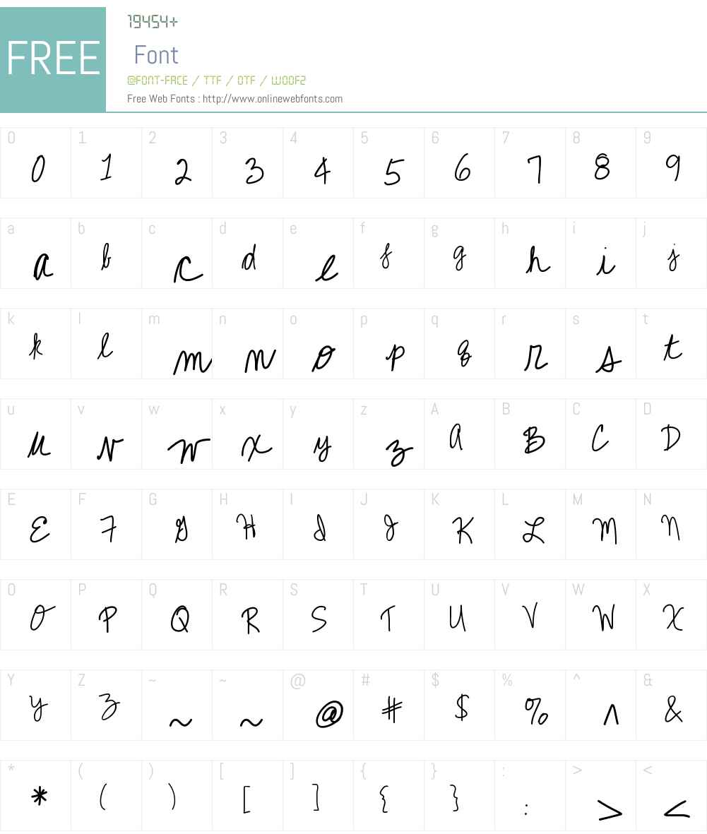 KBCallMe Font Screenshots
