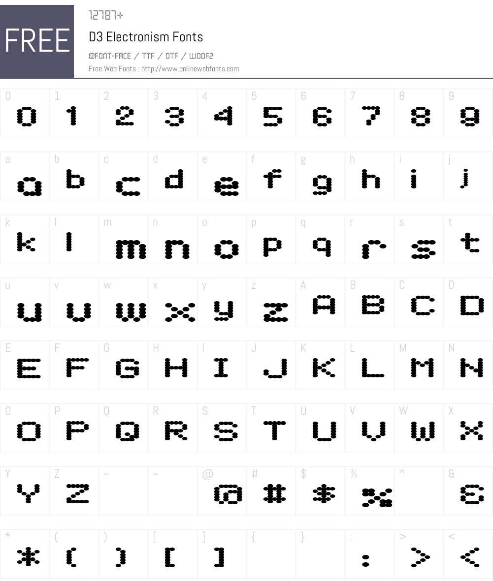 D3 Electronism Font Screenshots