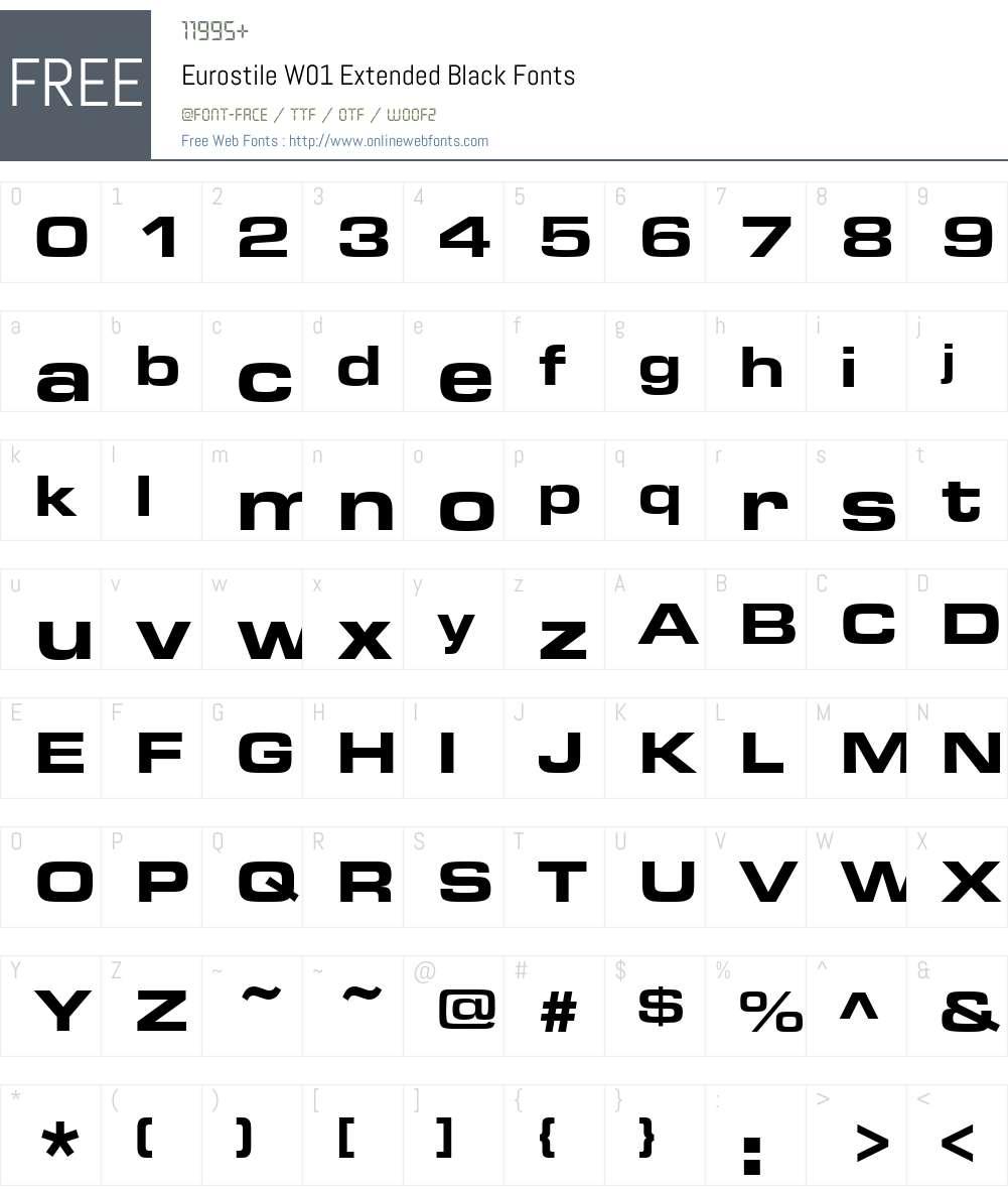 EurostileW01-ExtendedBlack Font Screenshots
