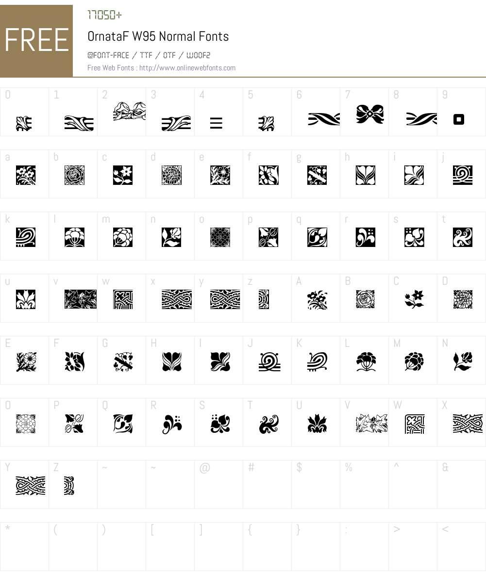 OrnataFW95-Normal Font Screenshots