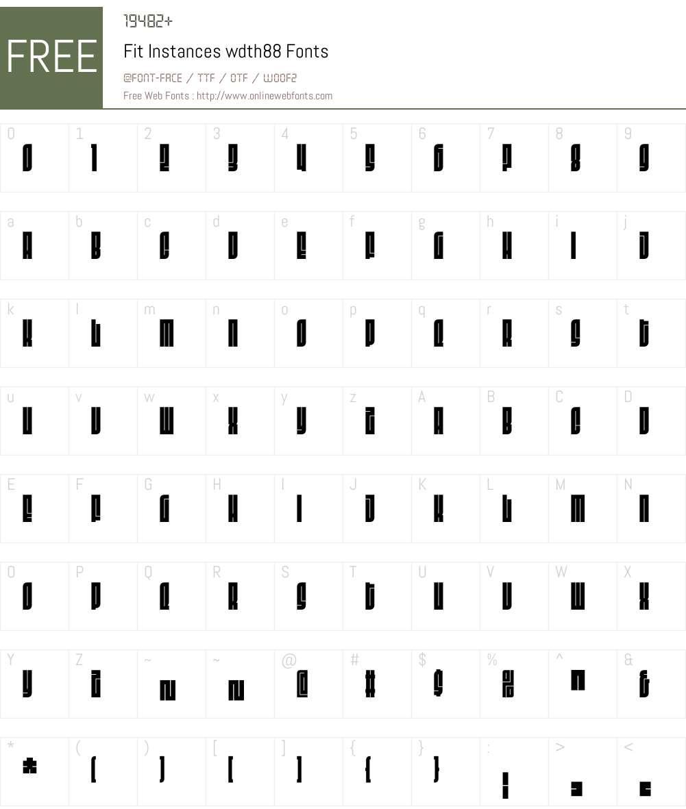 Fit Instances wdth88 Font Screenshots