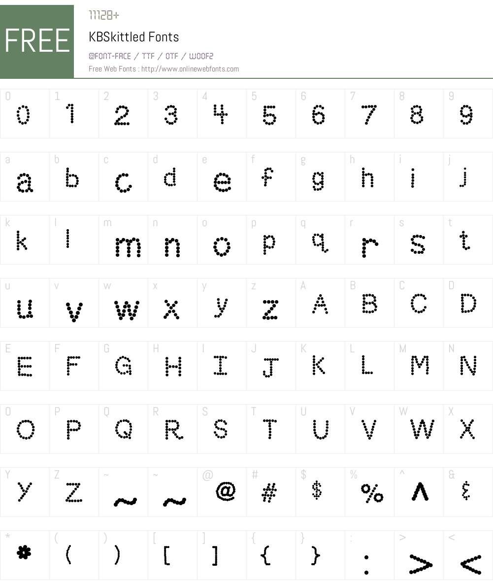 KBSkittled Font Screenshots