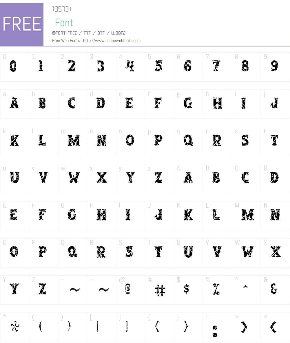 SalloonCracked Font Screenshots