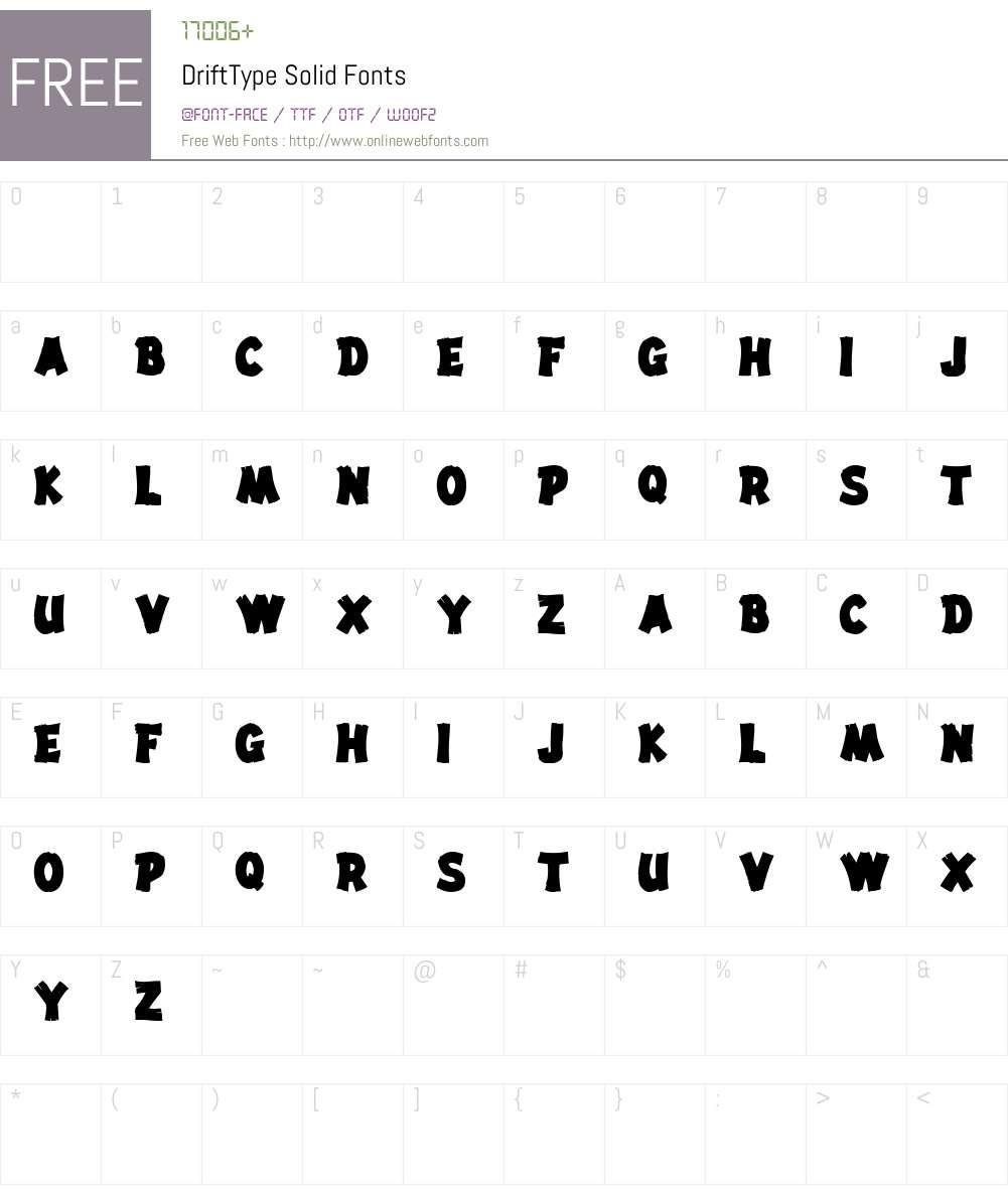 DriftType Font Screenshots
