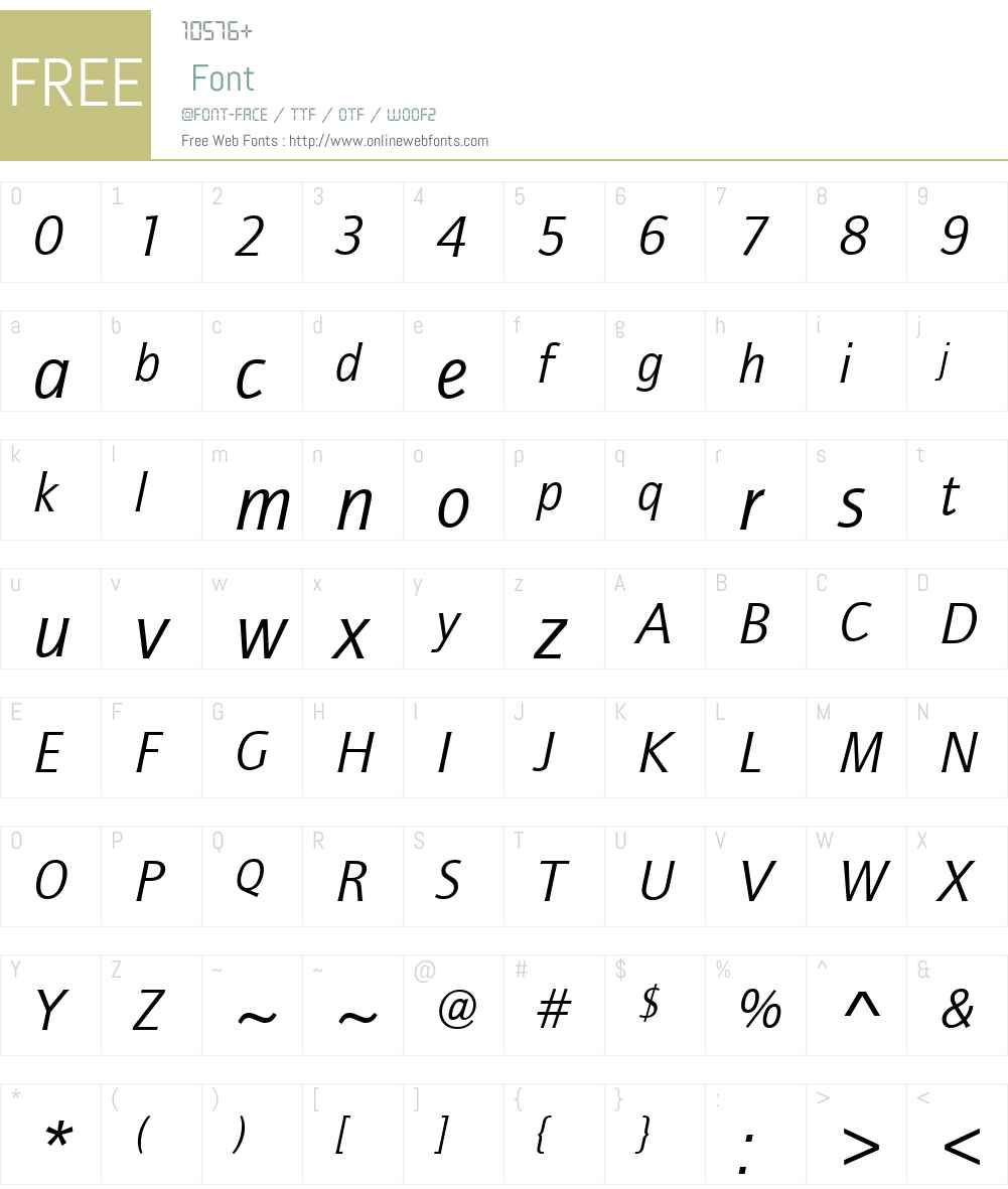 ITCQuaySansW01-BookIt Font Screenshots