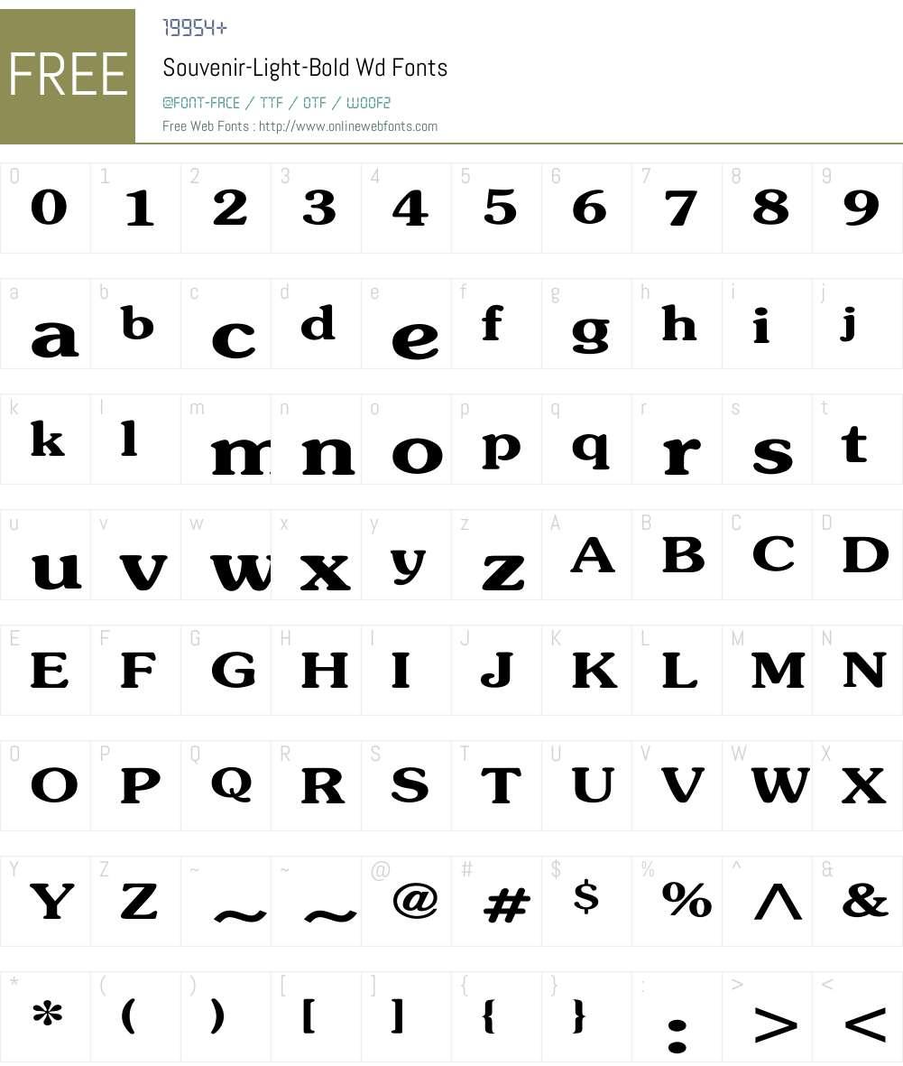 Souvenir-Light-Bold Wd Font Screenshots