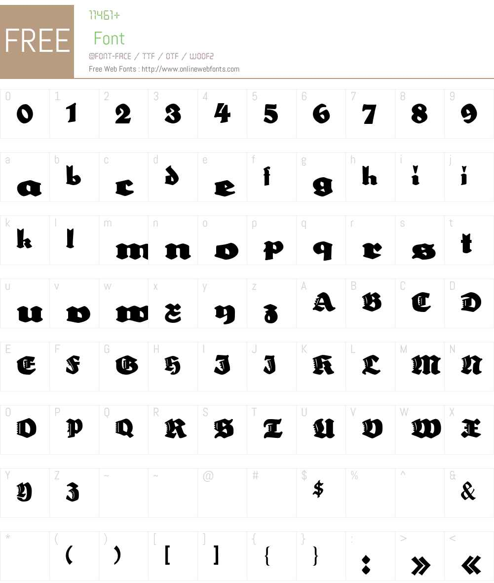 Neptun Font Screenshots