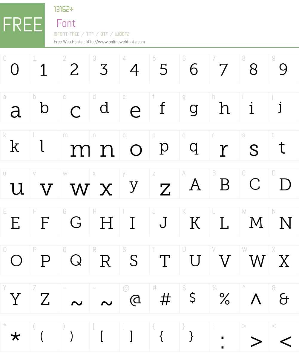 Museo Slab Font Screenshots