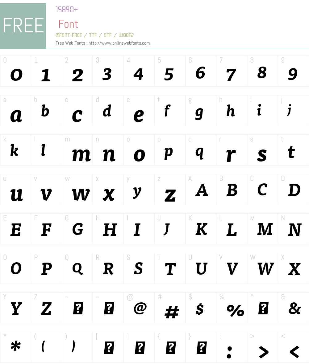 WebFontFont Font Screenshots