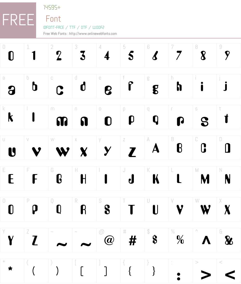 AmeliaLL Font Screenshots