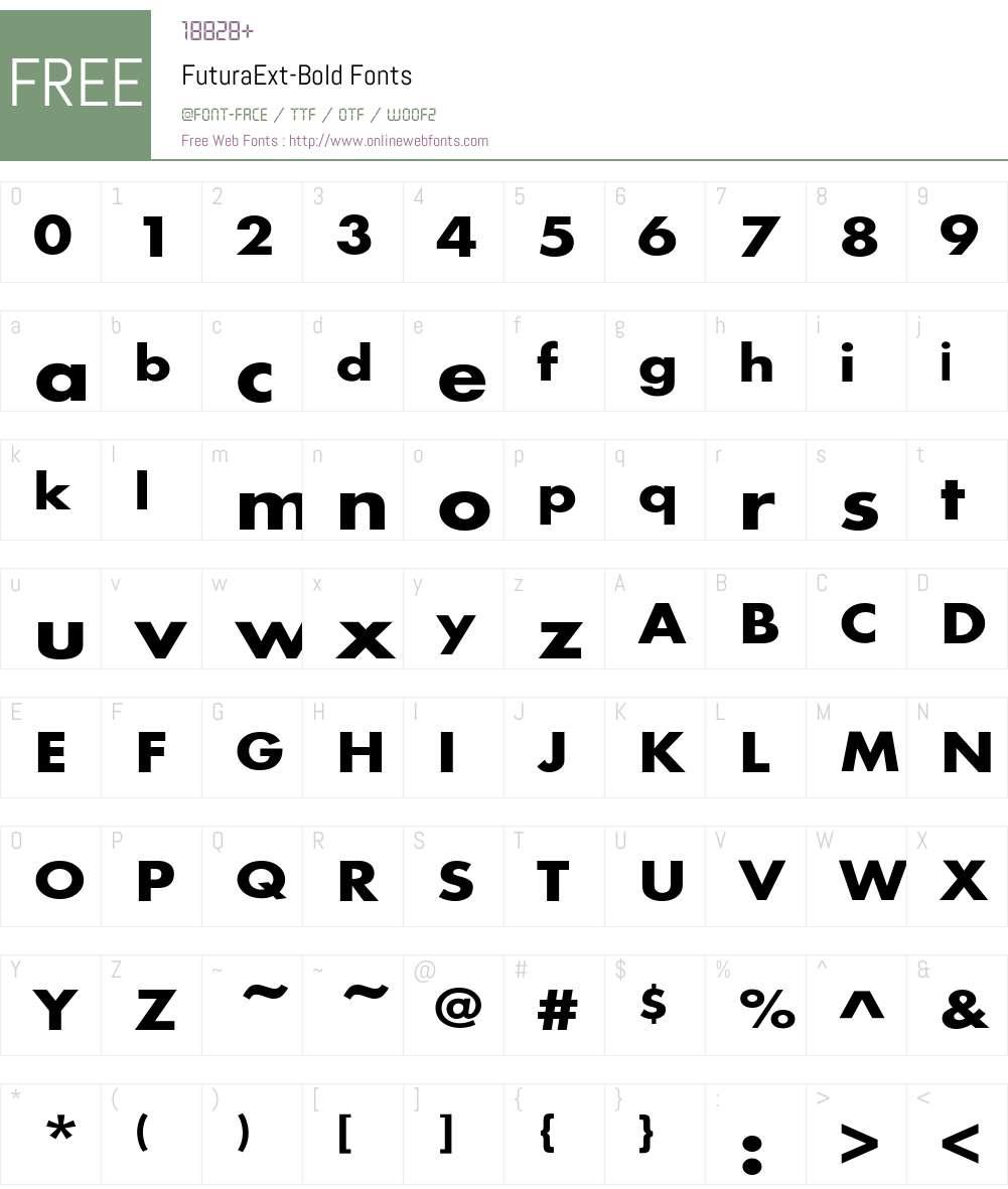 FuturaExt-Bold Font Screenshots