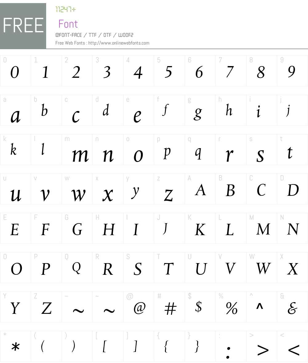 Albertina MT Std Font Screenshots
