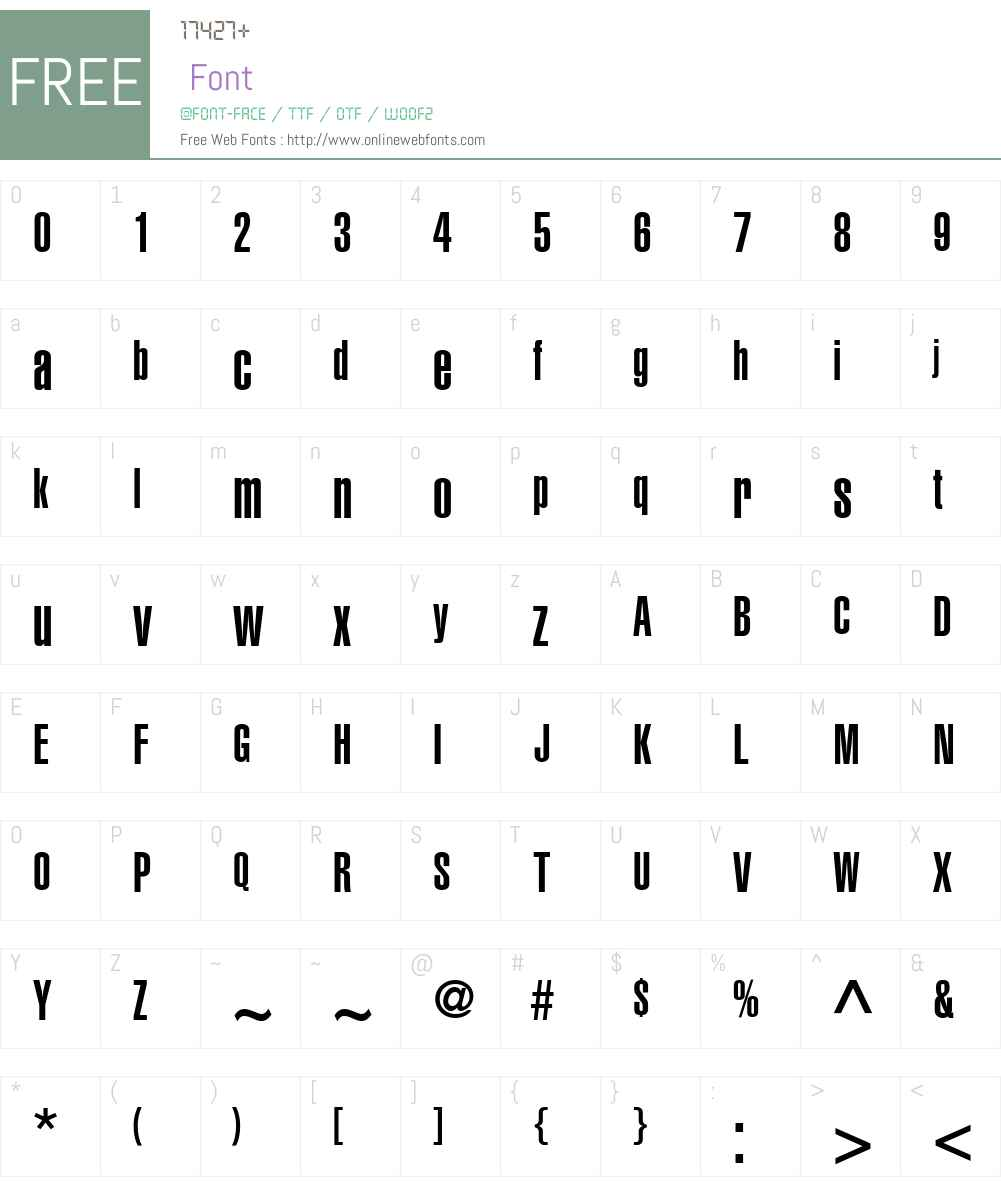 Context Ultra Condensed SSi Font Screenshots
