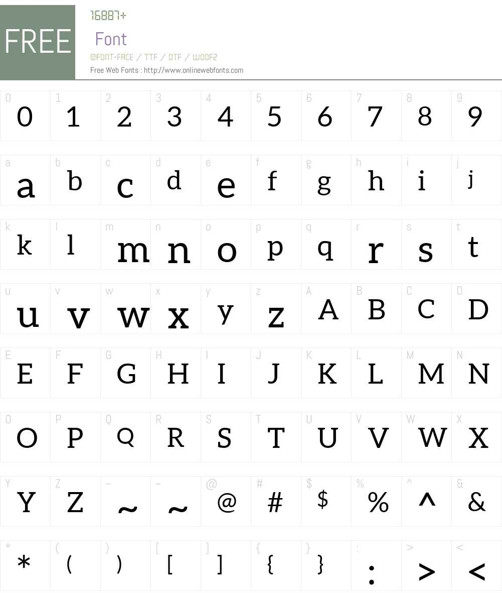 Aleo Font Screenshots