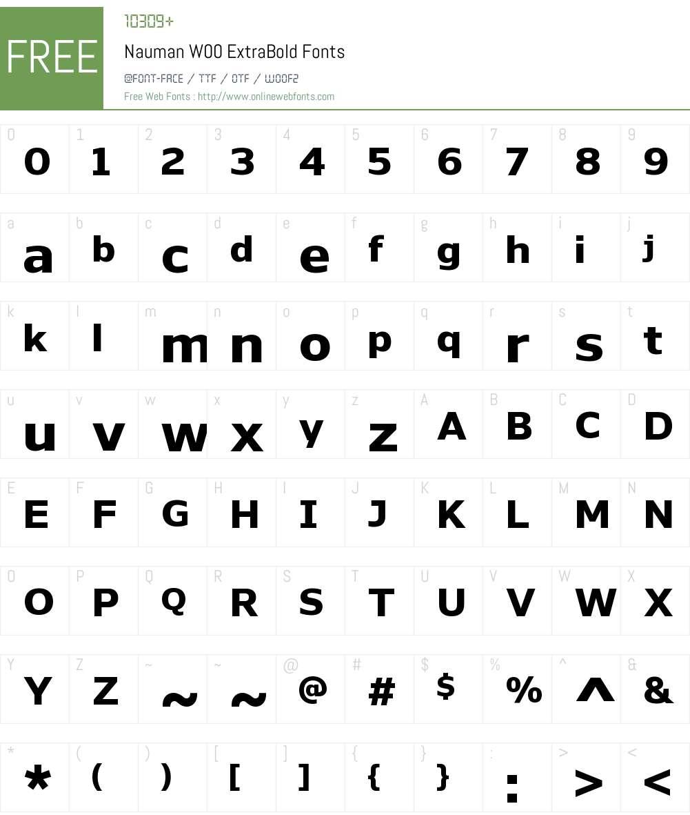 NaumanW00-ExtraBold Font Screenshots