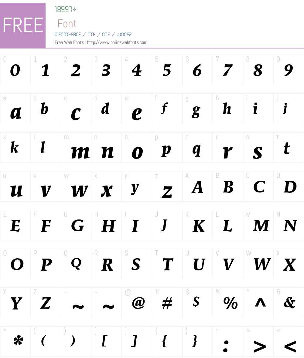 ITC Mendoza Roman Std Font Screenshots