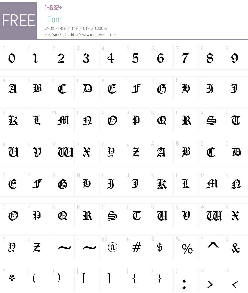 .VnGothicH Font Screenshots
