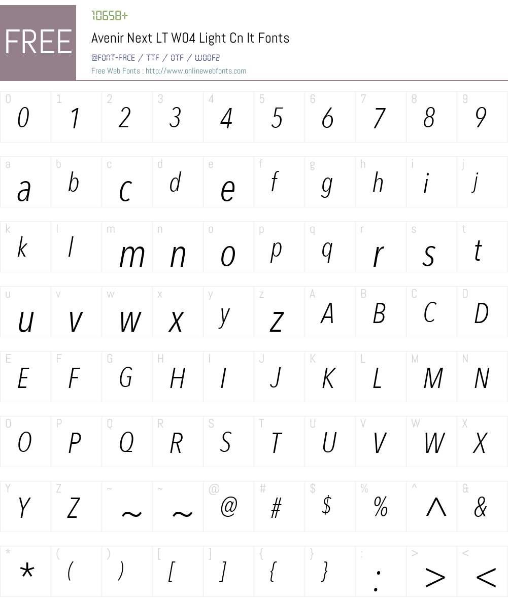 Avenir Next Font Screenshots
